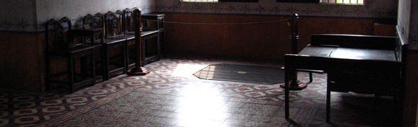 林盧の2階。柄入りタイルの床は当時としてはかなりモダンなものだったと思われる