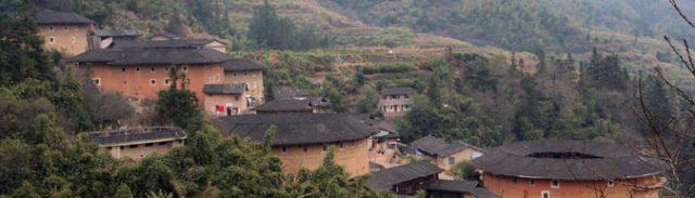田螺坑土楼群側面の風景