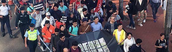 非親政府派による「威権統治に反撃しよう」デモ(写真:瀬崎真知子)